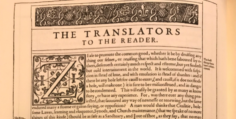 The King James Bible Translators Defend Their Use Of Marginal Notes