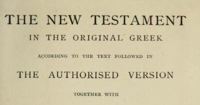 The Preface To The Greek TR Of F. H. A. Scrivener